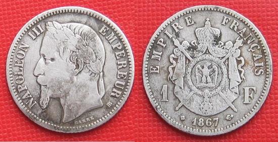 1 franc napo 1847 argent
