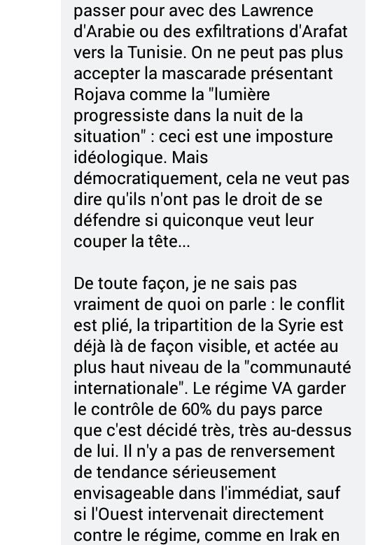 Réflexions FB sur la Syrie