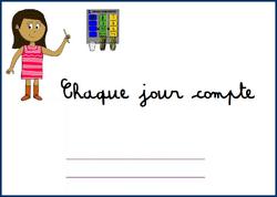 Cahier Chaque Jour Compte CP-CE1-CE2
