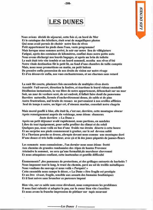 Composition poêtique Les Dunes