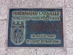 Lassalle_Gedenktafel