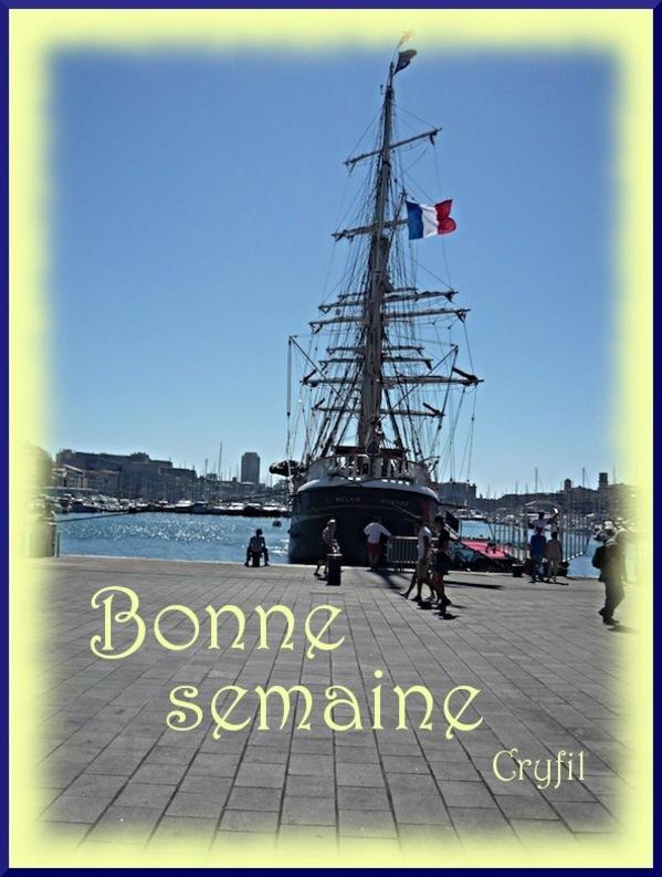 Le Belem, amarré au Vieux Port