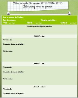 documents organisation cycle et suivi élèves