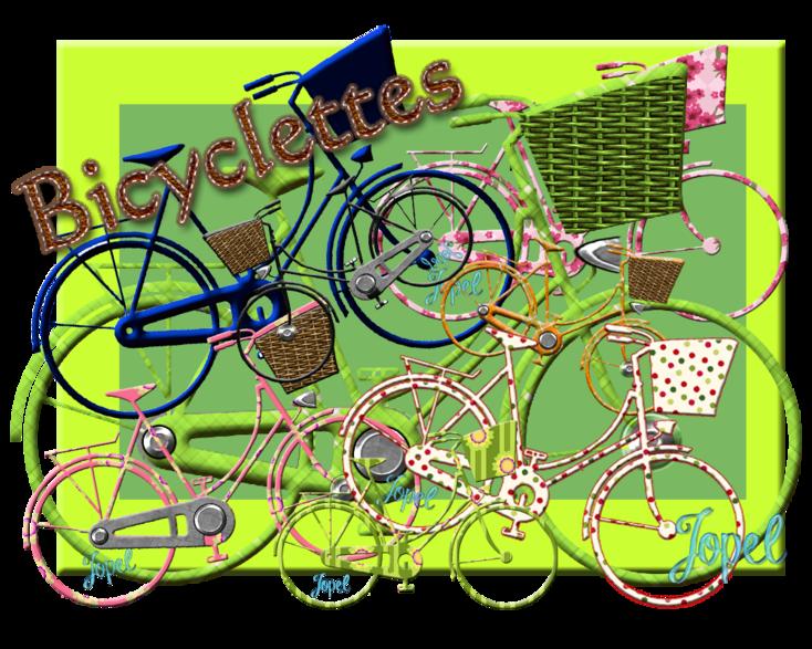 Bicyclettes de couleurs de ma création pour Déco par Jopel