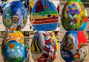 books easter eggs festival ukraine city