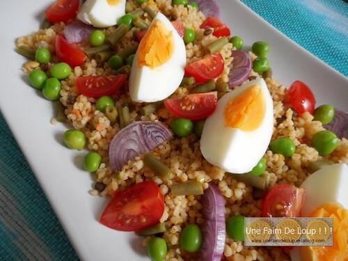 Taboulé de céréales aux légumes