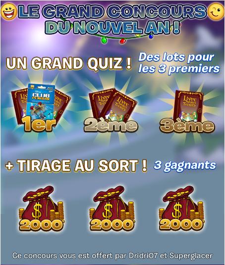 Grand Concours du Nouvel An - Les résultats !