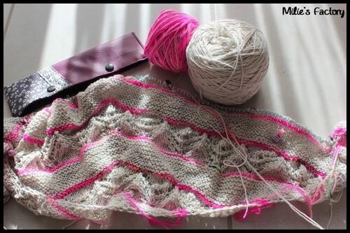Quelques en-cours tricot.