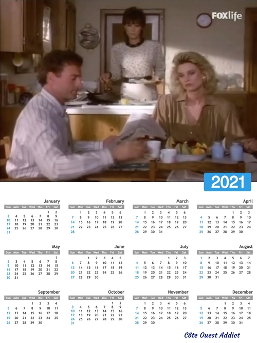 Calendriers annuels 2021 en anglais(fin)./Annual calendars 2021 in English(the end).