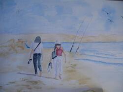Les aquarelles de Maïté: la plage