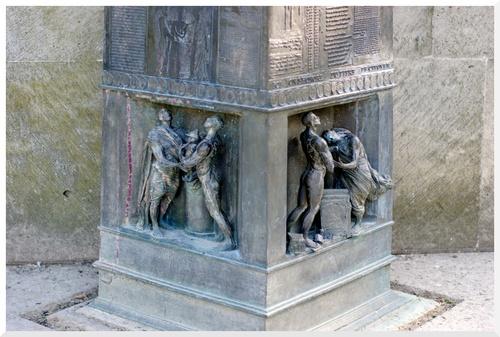 Paris. Le Monument des droits de l'homme.