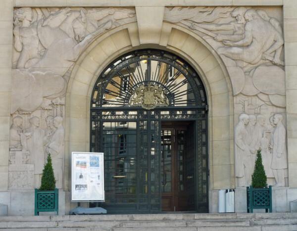 Fondation Biermans Lapôtre - porche d'entrée