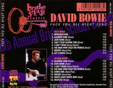 Le choix des lecteurs # 57 : David Bowie - F... you all night long! (vantard!)