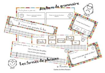 ateliers grammaire : formes de phrases
