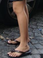 Les touristes ont parfois de jolies jambes...
