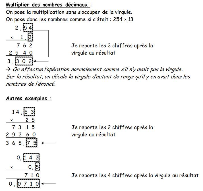 how to find a decimal multiplier