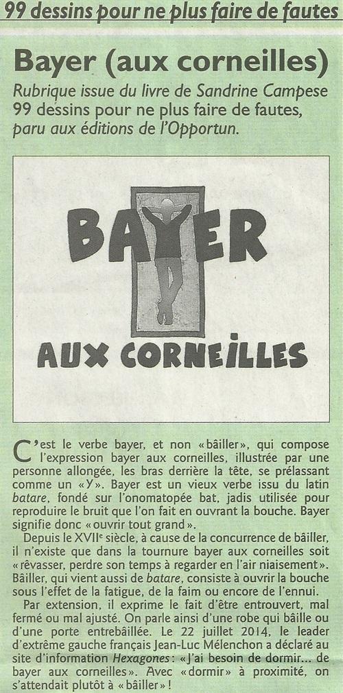 Bayer ou bâiller...?