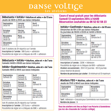 Ateliers débutants adultes