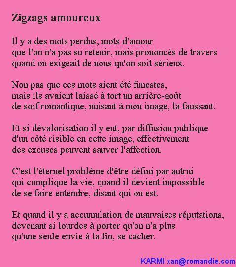 Karmi - Zigzags amoureux