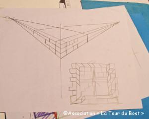 Perspectives, épures et maquettes