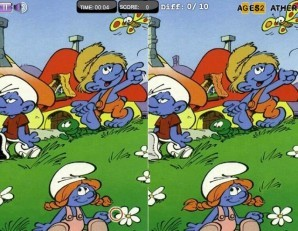 Point and clic - The smurfs