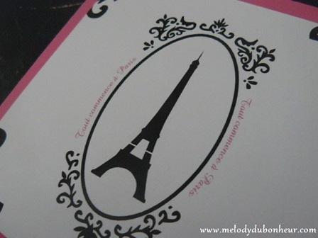 Faire part thème Paris et baroque