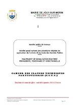 Equipement de signalisation routière permanente, temporaire et directionnelle