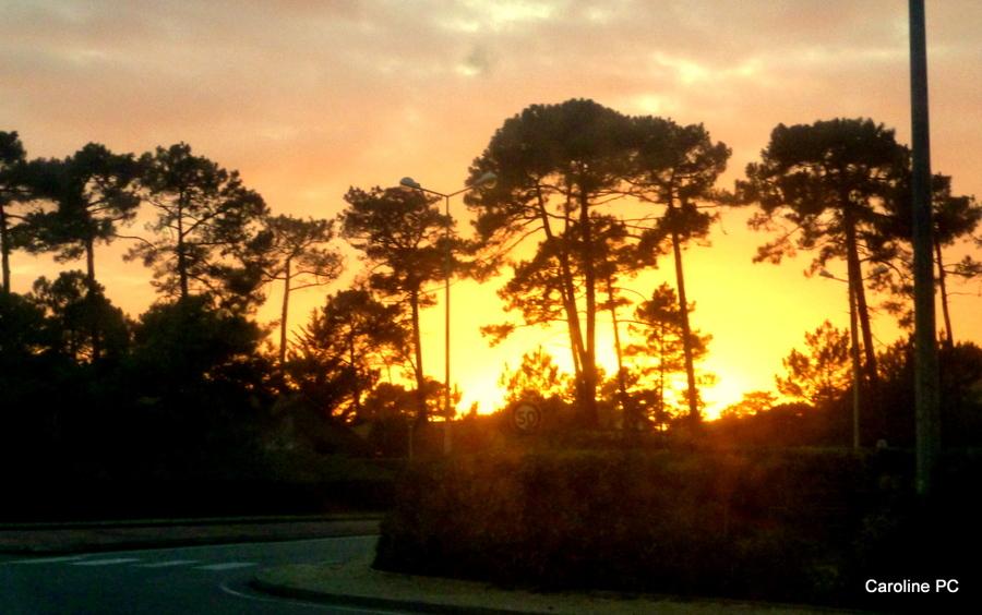 *Un super coucher de soleil*