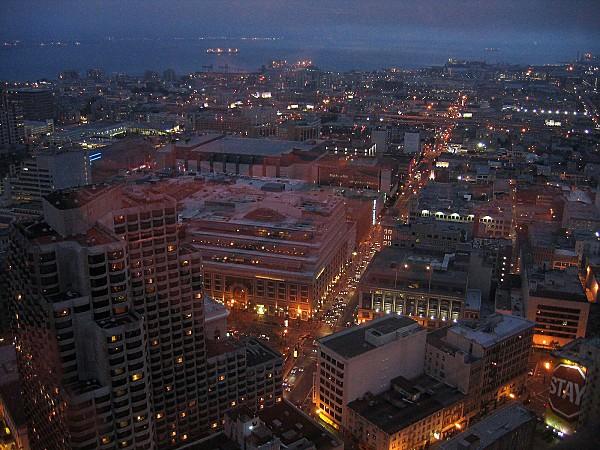 San Francisco nuit vue du Hilton 1