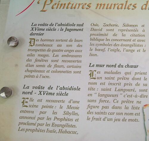 1- les peintures de Notre-Dame de Cunault
