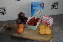 Tartelette aux fraises et crème à la passion