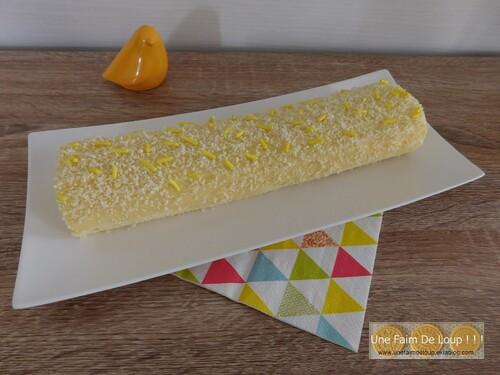 Roulé au citron & chocolat blanc