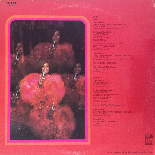 "Diana Ross - 1971 : Album "" Diana ! (Original TV Soundtrack) "" Motown Records MS-719 [ US ]"