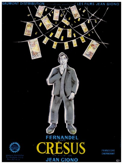 CRESUS - BOX OFFICE FERNANDEL 1960