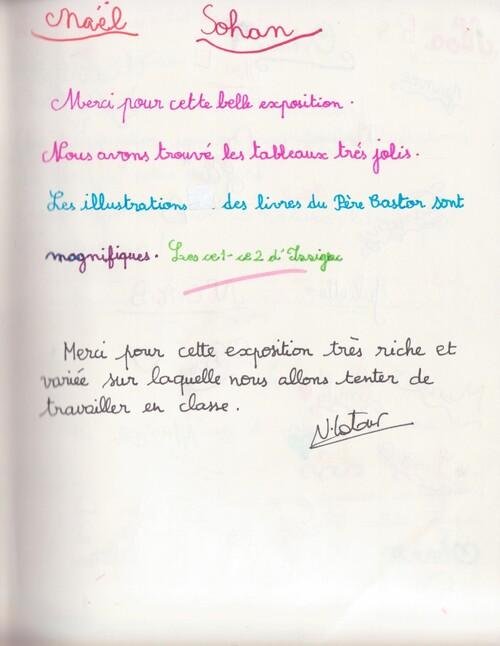 Témoignages lors de l'exposition Pierre Belvès 2016 2/2 Ecoles d'Issigeac