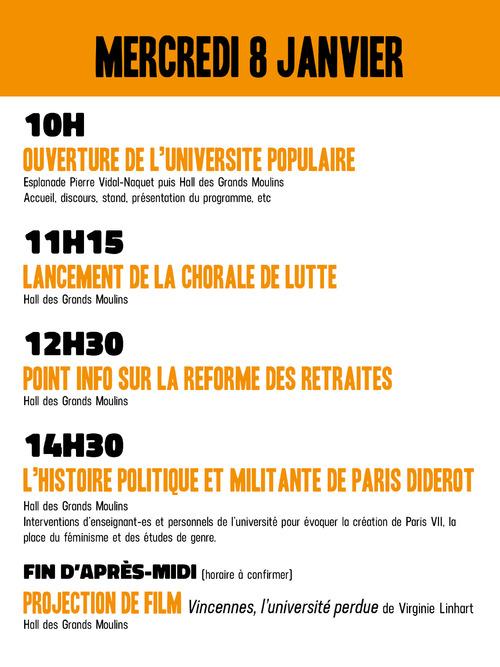 Paris Diderot en lutte