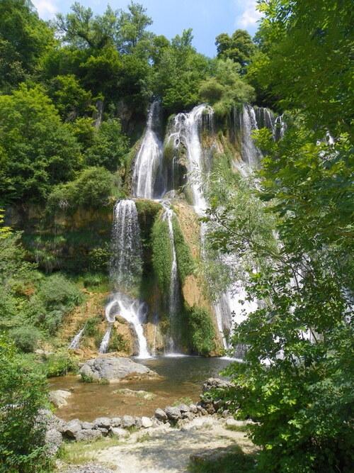 La cascade de Glandieu en juillet