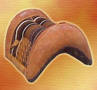 selle bédouine cuir laine et poils de chévre