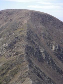 Du sommet zoom sur la montée au Monturull