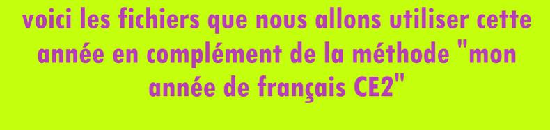 Les fichiers de Français 2019 - 2020