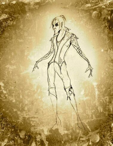 Original sketch for Once Upon A Time Rumplestiltskin costume - Eduardo Castro: