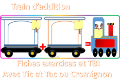 Trains d'additions - exercices - nombres - TNI- TBI
