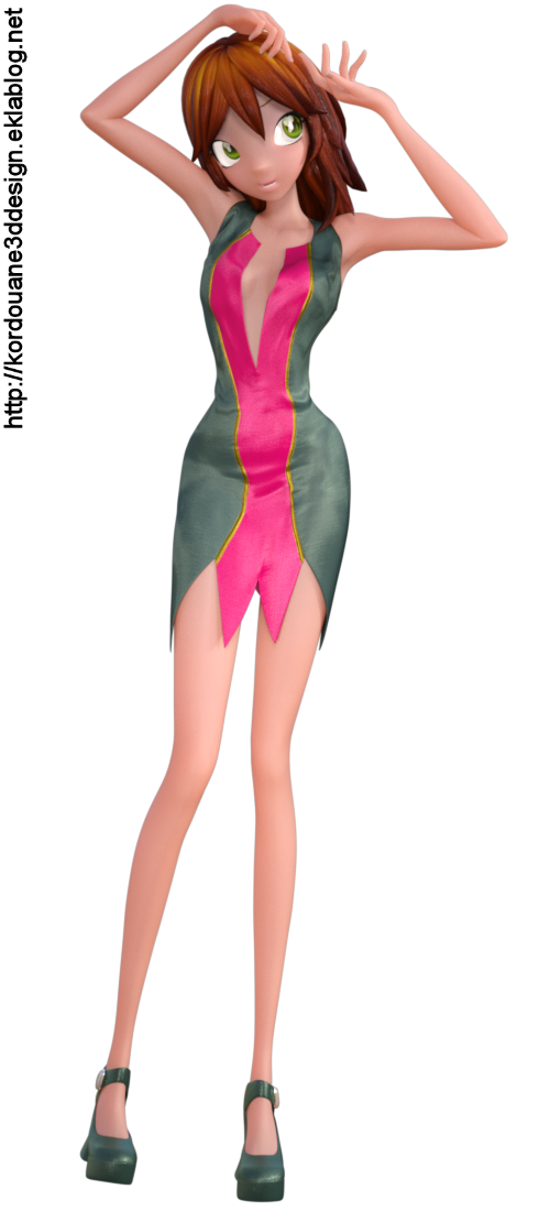 "Tube ""Star"" en mini jupe (render-image)"