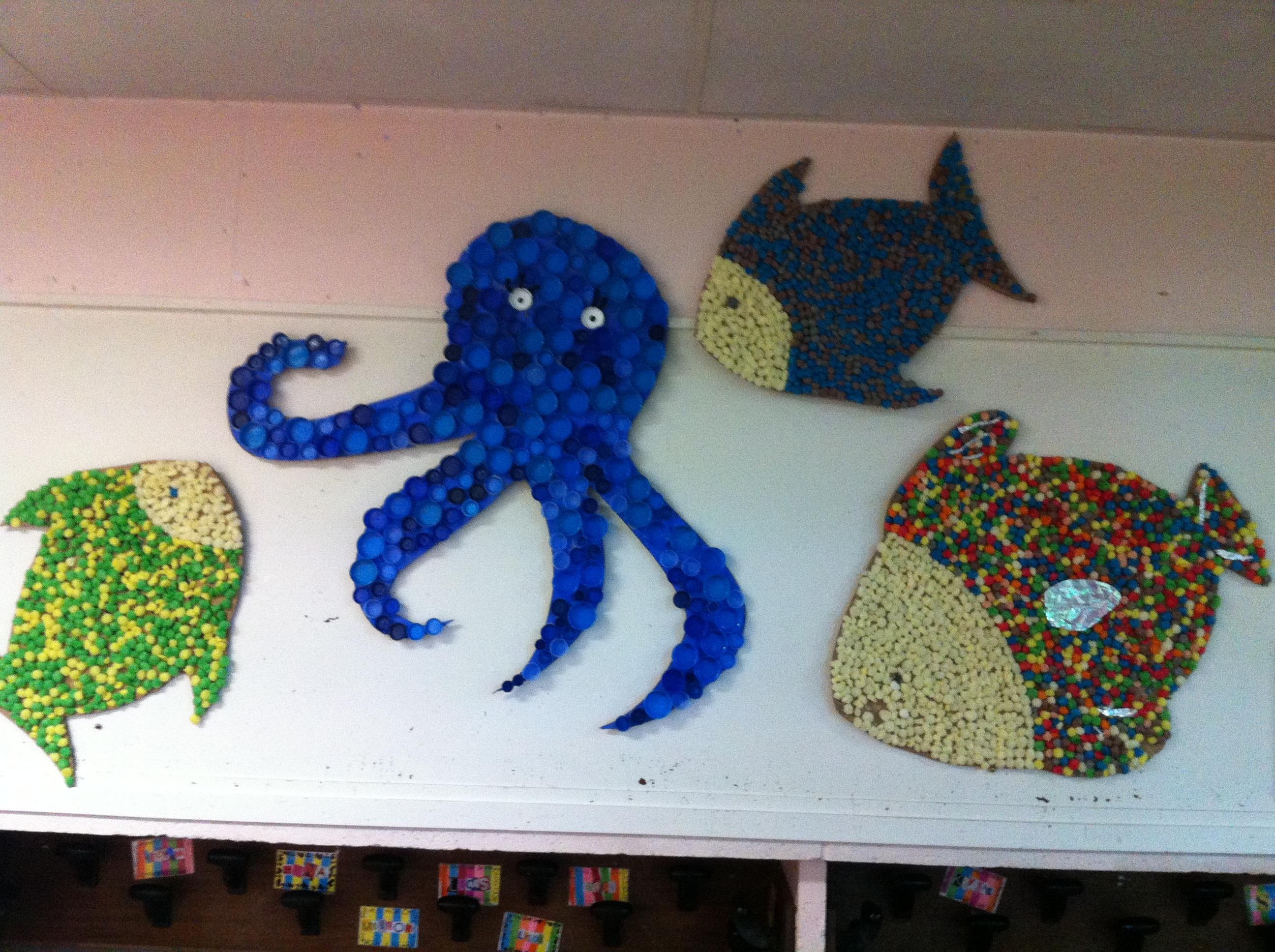 Nos poissons en playma s la classe de wjl - Poisson en maternelle ...