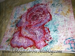 Rose impression tissu/ Rose with fabric impression
