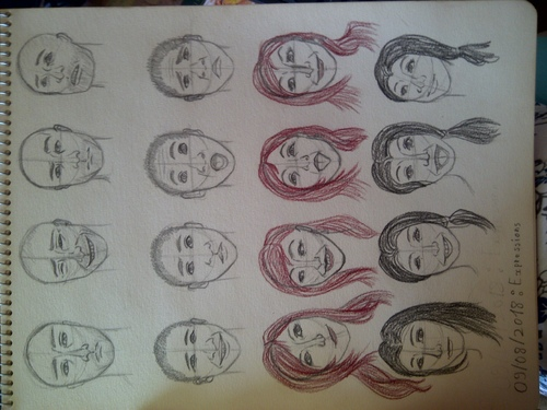 Doodles du soir : Les expressions faciales