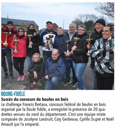 Bourg-Fidèle - Concours du 14 avril 2019