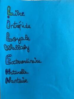 CM1-CM2 B Cap ou pas cap n°1? Ecrire un acrostiche avec son prénom