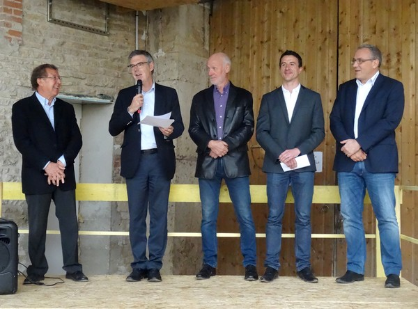 Remise d'un chèque de 25 000 euros par le Fonds Agir Pour l'Emploi du groupe  E.D.F. à l'association GREN de Sainte Colombe sur Seine