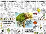 Fruits et légumes de saison - A colorier